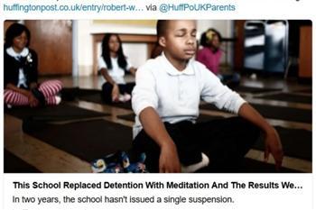 以打坐管教違規學生 美國小學成效驚人