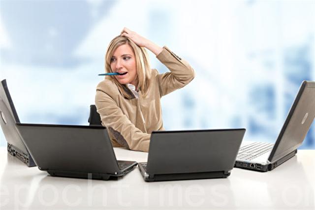 一心多用反而降低工作效率,而且對大腦有諸多傷害。(Fotolia)