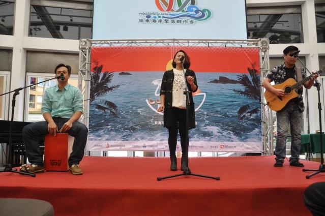 「Ka-silaw鹹豬肉樂團」於1日先登場演唱,為花蓮東海岸音樂季打響第一砲。(記者詹亦菱/攝影)