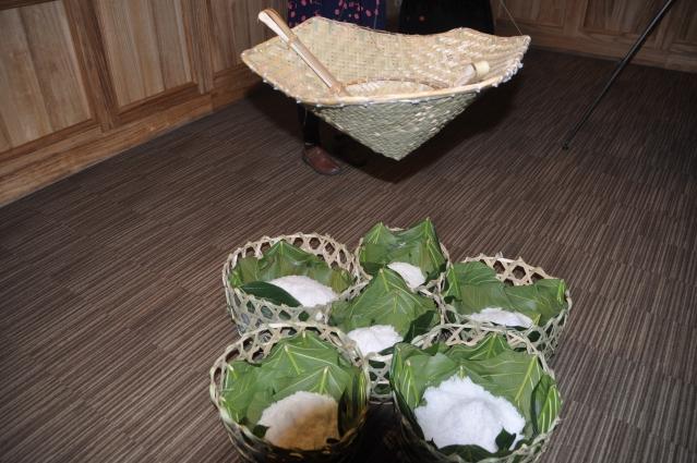 「Cinaw裝鹽巴的籃子」是海岸部落老人自編的籐籃,用來放置鹽的工具。