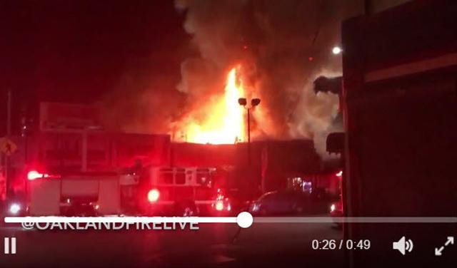 加州奧克蘭倉庫大火 當局預計近40人遇難
