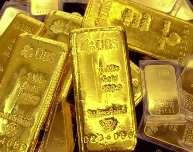 去年年末,中國從瑞士進口的黃金數量飆升。(Getty Images)