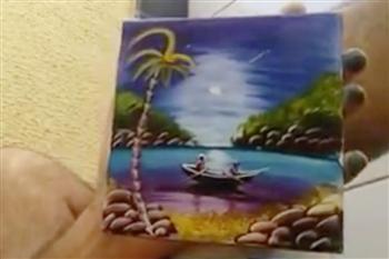 【影片】手指頭 破布加牙籤 這名男子繪畫技巧好奇特