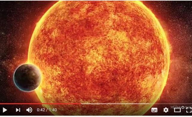 這顆新發現的「巨型地球」編號為「LHS 1140b」,它能夠接收到足夠的光線來允許液體水的存在,這也是在地球上孕育生命的先決條件。(視頻截圖)