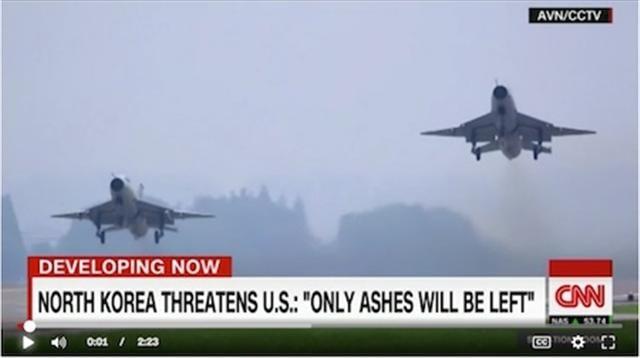 CNN報導,中共軍隊正準備應對朝鮮可能出現的最糟情況。美國國防部官員表示,中共發射巡航導彈的轟炸機和其他軍機已進入「高度戒備」狀態。(CNN視頻截圖)