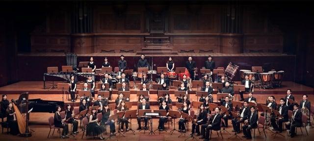 桃園交響管樂團演出。(桃園交響管樂團臉書提供)