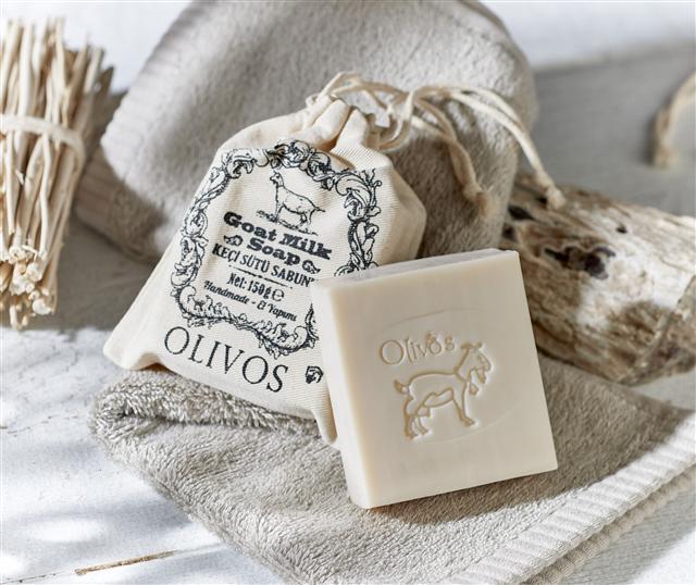 OLIVOS手工皂⽺奶皂。(Olivos 福爾摩沙提供)