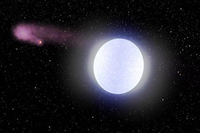 KELT-9b行星的藍色恆星溫度約為太陽的2倍。(Sci-news影片截圖)