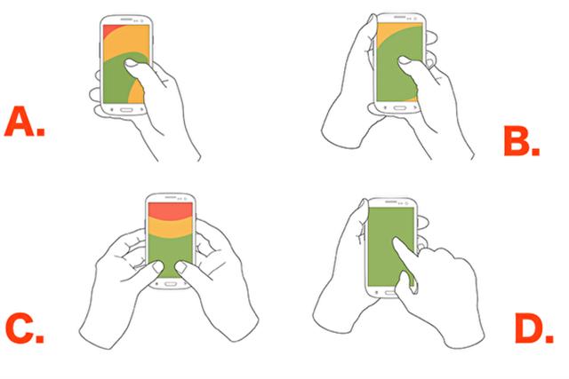 你用手機的姿勢是哪一種呢?