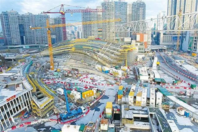 有報道指,正在興建的廣深港高鐵西九總站(圖)的設計包括一地兩檢設施,更有羈留室。(大紀元資料圖片)