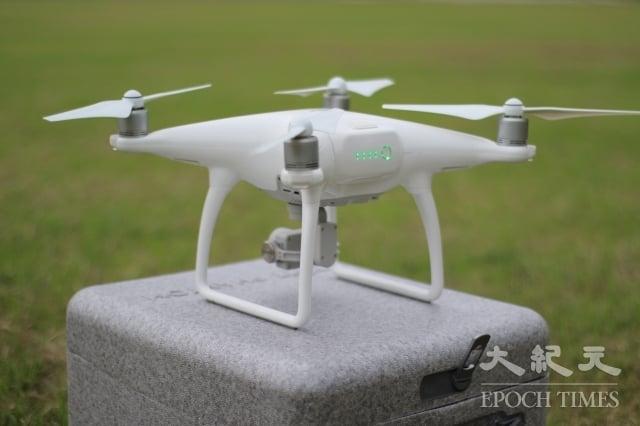 大疆(DJI)的空拍機。(記者許嘉麟/攝影)