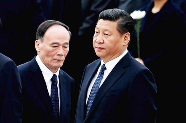 港媒消息,習王陣營阻擊紅色後代的集體對抗。 (Feng Li/Getty Images)