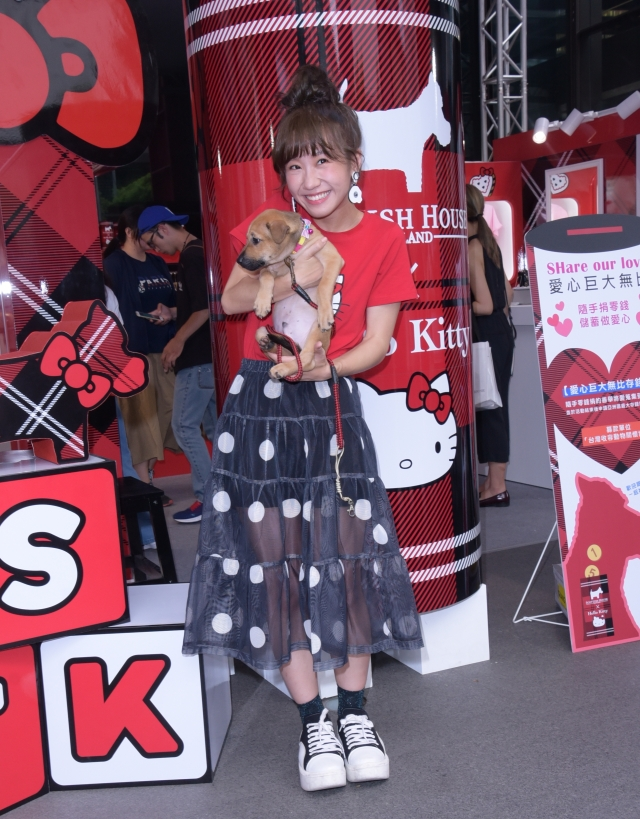 Lulu11日出席時尚公益活動關懷動物,呼籲以領養代替購買。(記者黃宗茂/攝影)