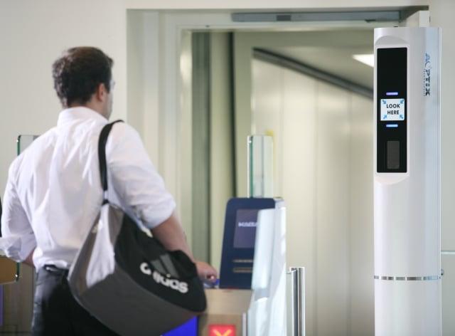 加州一機場的臉部識別系統。(GettyImages)