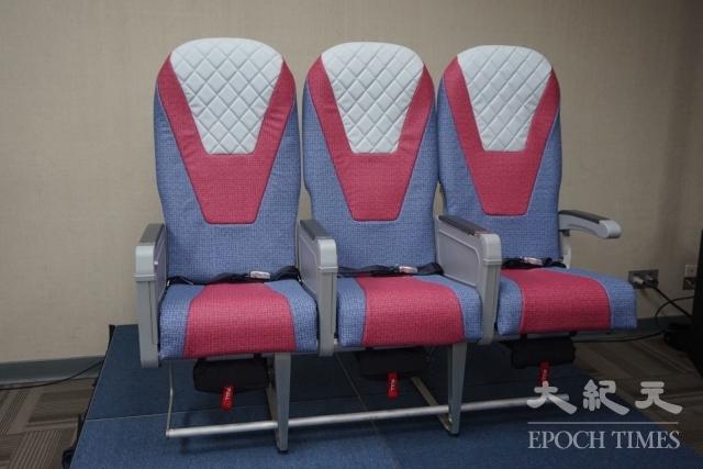 台灣首款通過FAA動態強度測試的民航機座椅,測試內容包括最大加速度14G向下衝擊、最大加速度16G向前衝擊。