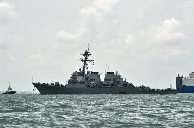 美海軍馬侃號撞船 10水兵失蹤