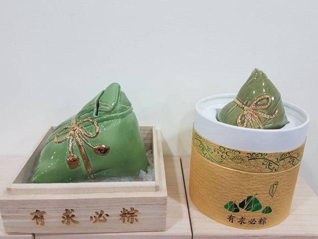 「有求必粽」大粽可做撲滿或放置名片;小粽可做為調味罐