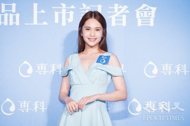 楊丞琳13日出席保養品代言記者會。(記者陳柏州/攝影)
