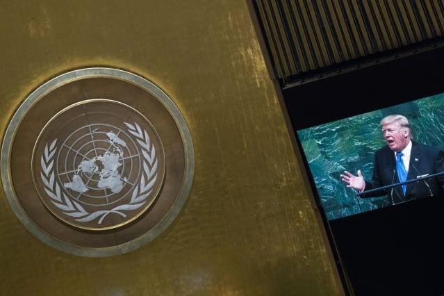 美國總統川普19日在聯合國大會上,除了嚴厲抨擊北韓及伊朗,也批評奉行社會主義及共產主義的國家,指委內瑞拉當局為全國人民帶來貧窮及苦難。(Getty Images)
