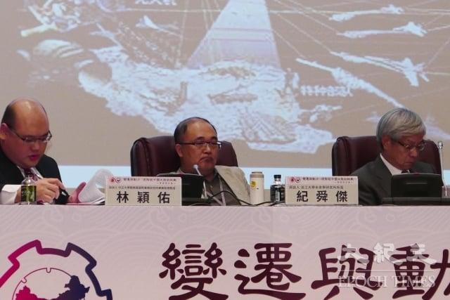 淡江大學未來學研究所所長紀舜傑(中)表示,蔡總統的新南向政策,應先從台灣內部做起。(記者郭曜榮/攝影)