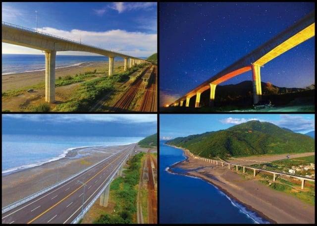 金崙大橋一套四組的紀念明信片。
