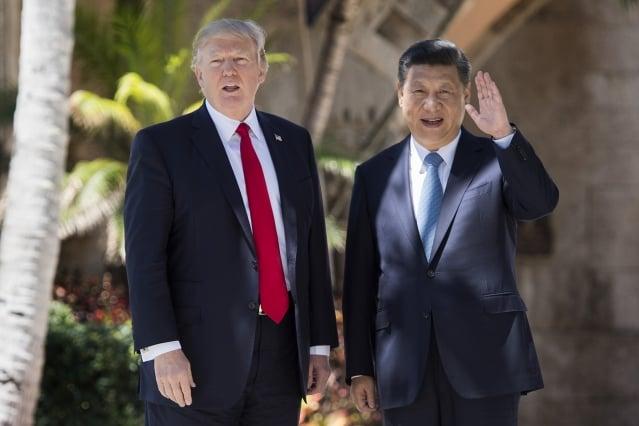 川普(左)會晤習近平(右)時,除北韓、南海等議題外,川普還明確表示,美國將持續對台軍售。(Getty Images)