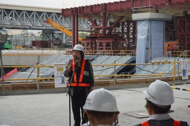 陳菊24日出席市地重劃紀錄片開拍記者會,有機會在明年卸任前,見到71期綠廊雛形。