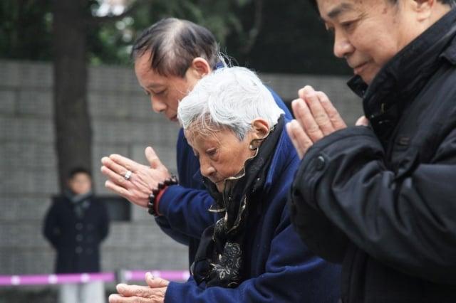 今年是南京大屠殺80周年。12月13日是南京大屠殺死難者國家公祭日。(AFP)