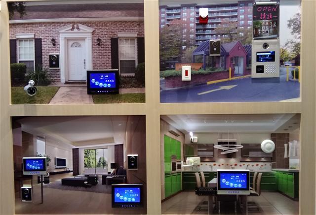 智慧型手機或平板電腦等行動裝置連接,一手掌握社區與家中所有,資訊整合應用,這是國際通訊系統知名大廠ALCATEL智慧系統的特色。(凡穎國際提供)