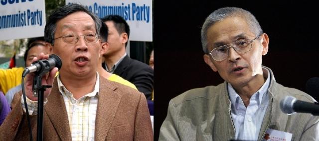 中共的新版歷史教科書刪去了「文化大革命」一課,企圖曚騙下一代引發憂慮。美國華裔政論家胡平(左)與德國華裔學者仲維光(右)就此進行點評。圖為二人資料照。(記者黃毅燕、Ming Chen/攝影)