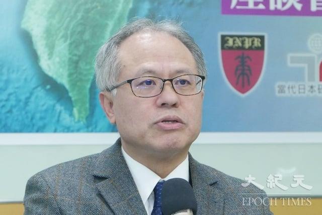 台灣民主基金會副執行長、健行科技大學企業管理系教授顏建發表示,台灣應聲援中國大陸的民主與人權運動,把戰場拉到中國內部,而不是拉到台灣來。(記者郭曜榮/攝影)
