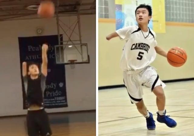 獨臂少年成三分神射手 他締造成績震撼美籃球圈