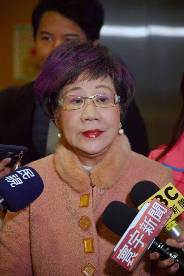 前副總統呂秀蓮(圖)宣布參選台北市長,她表示2個月前已與民進黨主席蔡英文表態。(中央社)