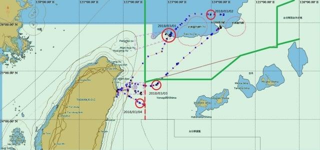 漁業署6日表示,蘇澳籍「東半球28號」漁船遭日本公務船緊追案,外交部已向日本抗議執法過當,但依漁船軌跡圖顯示,東半球28號也涉及違規情事,將懲處。(中央社)
