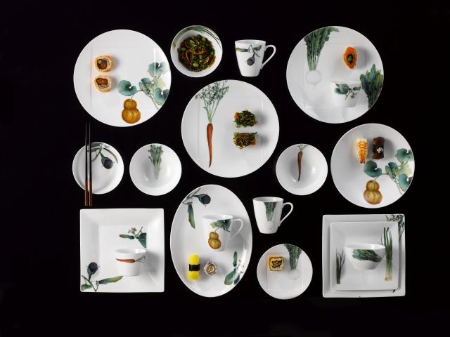 Noritake京香旬彩餐瓷系列。(Noritake提供)
