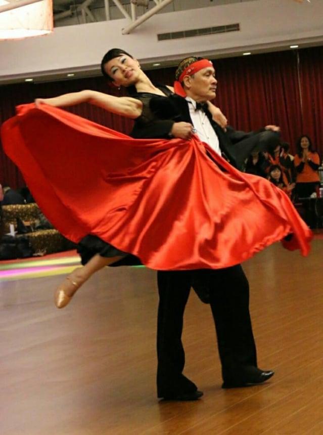 蔡輝煌秉持「創造」、「堅持」的原則,繼續教舞。