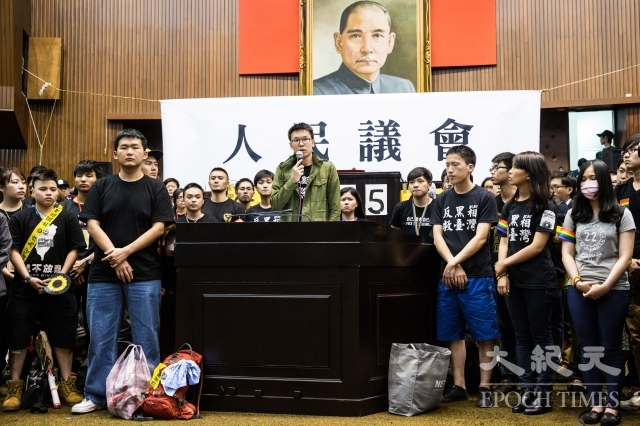 太陽花學運占領立法院案,台灣高等法院13日上午二審宣判,仍判立委黃國昌等22人無罪。圖為太陽花學運資料照。(記者陳柏州/攝影)