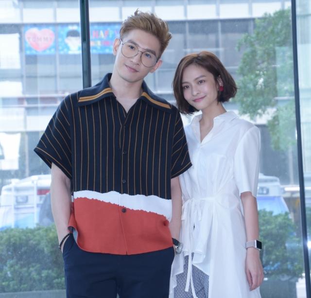 13日張立昂(左)與葉星辰(右)出席新劇《三明治女孩的逆襲》記者會。(記者黃宗茂/攝影)