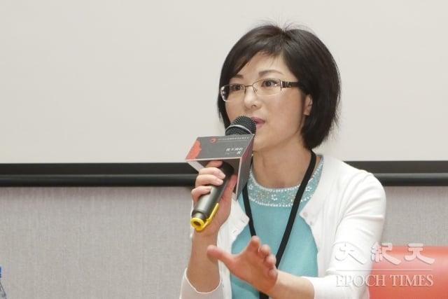 《假孔子之名》紀錄片的導演是加拿大華裔移民秋旻,她17日來台參加映後座談。