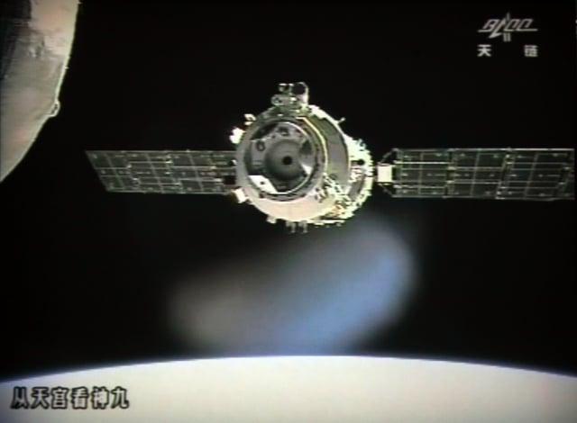 中國太空站「天宮一號」失去控制,歐洲太空總署(European Space Agency)預測,將在4月1日墜落地球。(Jiuquan Space Centre / AFP)