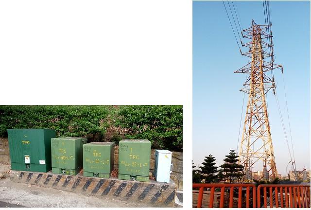 高壓電塔或變電箱。(三川/攝影)