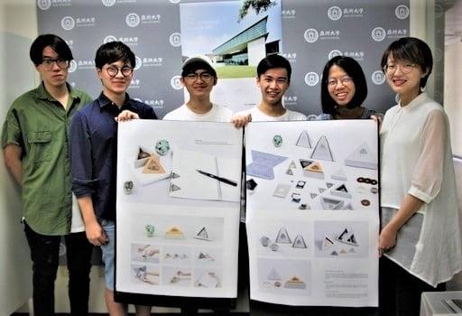 亞大創意設計學院學生設計「來自亞洲現代美術館的禮物」系列商品,再奪紐約ADC獎。(亞洲大學提供)