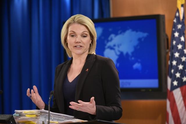 美國國務院發言人表示,未獲得任何正式通知,將繼續準備川金會。圖為資料照。(Mandel Ngan / AFP)