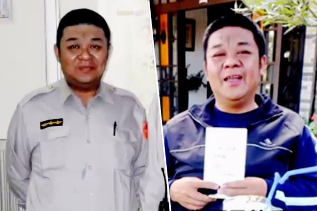 台南孝警張展坤突發肝病去世,讓警局同仁不捨,社會感動。(大紀元合成圖)