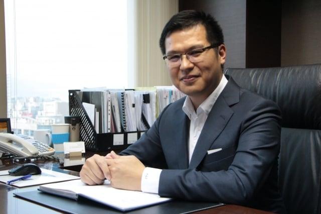 連雲建設副總經理蔡漢霖堅持「8B好宅」概念。(記者陳懿勝/攝影)