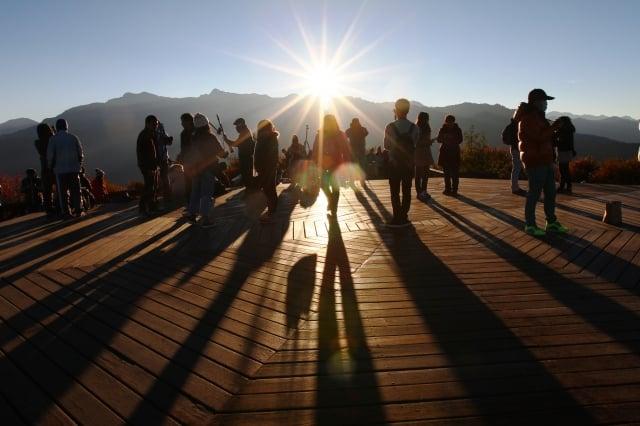 小笠原山觀日出。