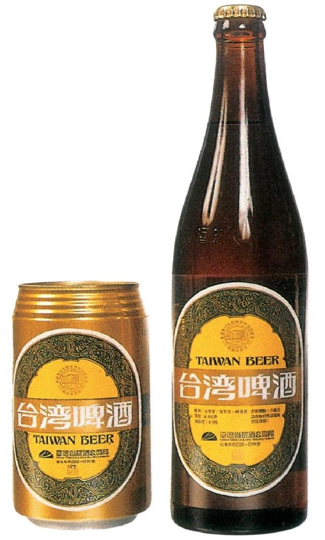 設計家陳敦化作品二,台灣啤酒商標、標籤設計。(視覺設計論壇提供)