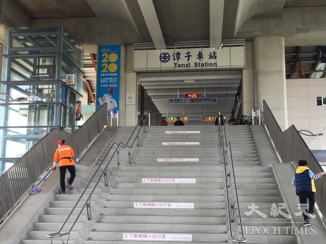 潭子新车站已经启用,干净明亮。