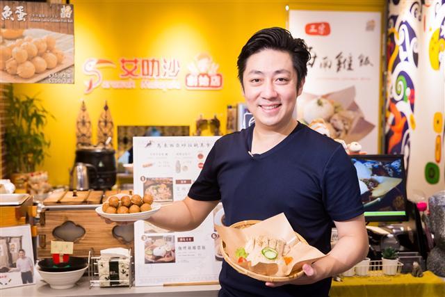 歌手艾成,將家鄉的美味帶到台灣。(陳柏州/攝影)