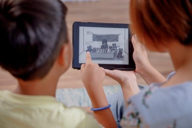 7.8吋螢幕較大,適合閱讀漫畫、圖片等書籍。(讀墨Readmoo提供)